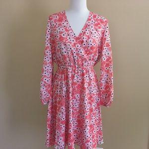 NWT CeCe Gemma Cynthia Steffe Coral Floral Dress